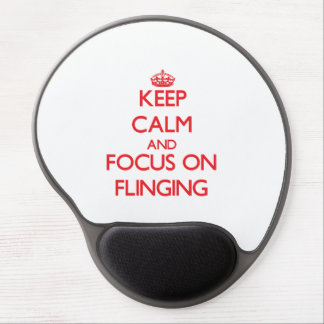 Keep Calm and focus on Flinging Gel Mousepads