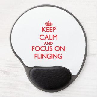 Keep Calm and focus on Flinging Gel Mousepads