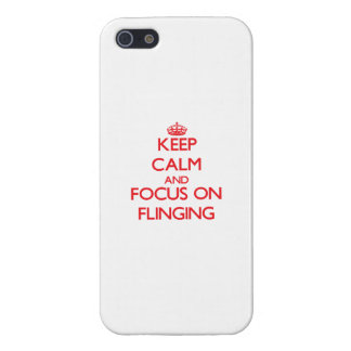 Keep Calm and focus on Flinging iPhone 5/5S Cases
