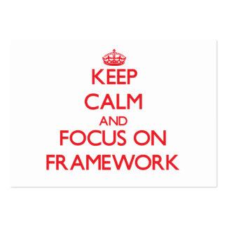 Keep Calm and focus on Framework Business Card