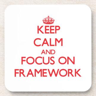 Keep Calm and focus on Framework Drink Coaster