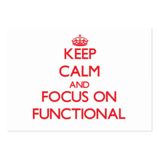 Keep Calm and focus on Functional Business Card Template