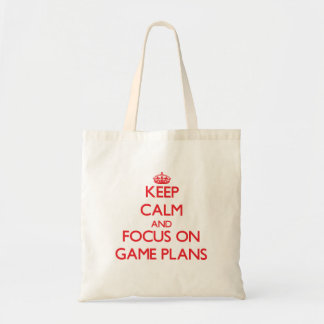 Keep Calm and focus on Game Plans Tote Bag