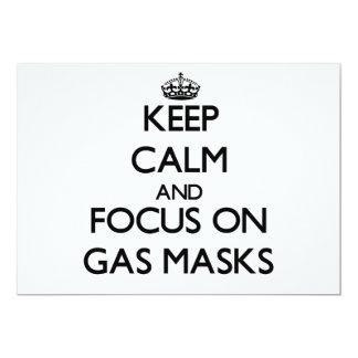 Keep Calm and focus on Gas Masks Custom Announcement