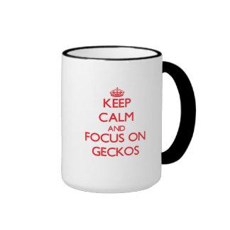 Keep calm and focus on Geckos Ringer Mug