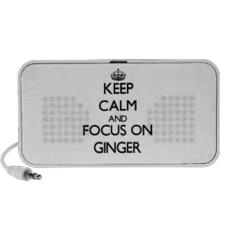 Keep Calm and focus on Ginger Notebook Speakers