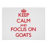 Keep calm and focus on Goats Poster
