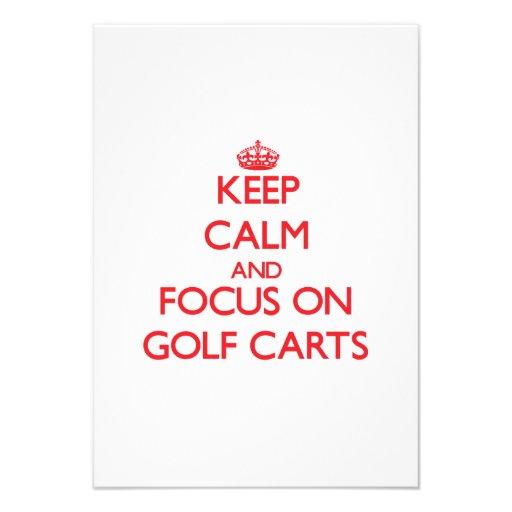 Keep Calm and focus on Golf Carts Custom Announcement