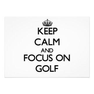 Keep Calm and focus on Golf Custom Invite