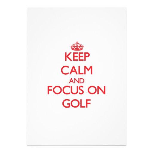 Keep Calm and focus on Golf Custom Announcement