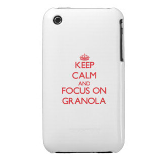 Keep Calm and focus on Granola Case-Mate iPhone 3 Cases