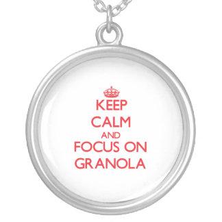 Keep Calm and focus on Granola Pendant