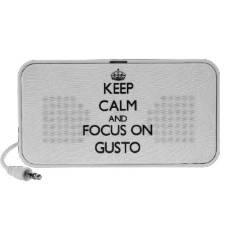 Keep Calm and focus on Gusto Notebook Speakers