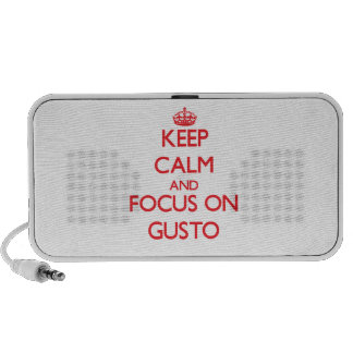 Keep Calm and focus on Gusto Portable Speakers