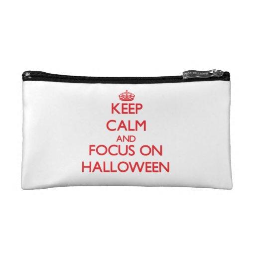 Keep Calm and focus on Halloween Makeup Bag