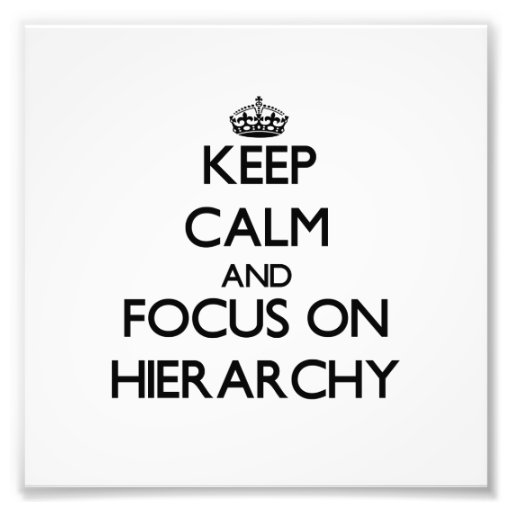 Keep Calm and focus on Hierarchy Photo Print