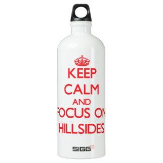 Keep Calm and focus on Hillsides SIGG Traveler 1.0L Water Bottle