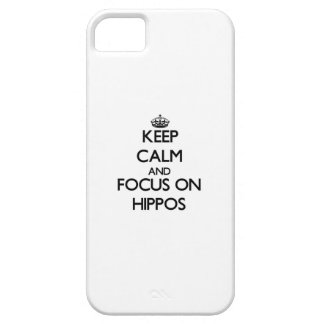 Keep Calm and focus on Hippos iPhone 5 Cover