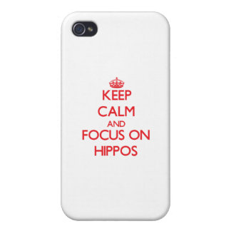 Keep Calm and focus on Hippos Case For iPhone 4