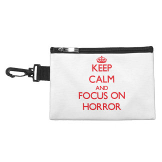 Keep Calm and focus on Horror Accessories Bag
