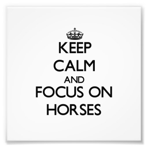 Keep Calm and focus on Horses Photo Print
