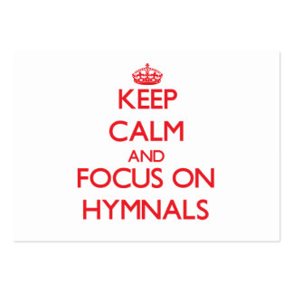 Keep Calm and focus on Hymnals Business Card Template