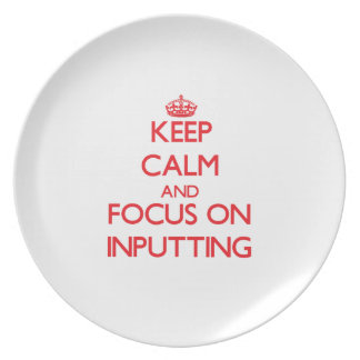 Keep Calm and focus on Inputting Party Plates
