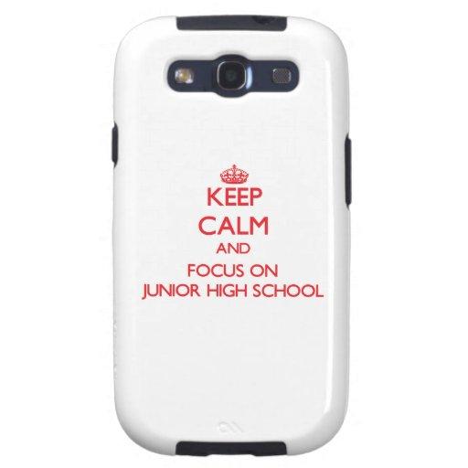Keep Calm and focus on Junior High School Samsung Galaxy S3 Covers