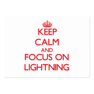 Keep Calm and focus on Lightning Business Card Templates