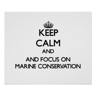 Keep calm and focus on Marine Conservation Poster