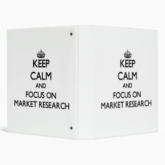 Keep Calm and focus on Market Research Binders