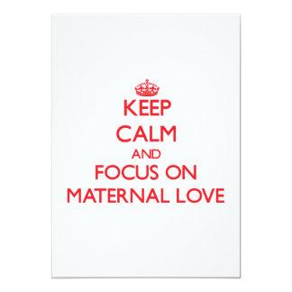Keep Calm and focus on Maternal Love Announcement