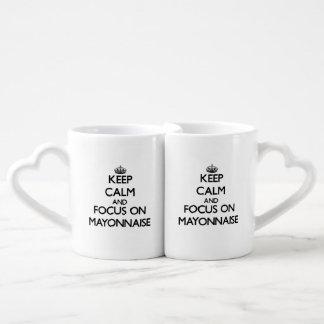 Keep Calm and focus on Mayonnaise Coffee Mug Set