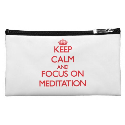 Keep Calm and focus on Meditation Cosmetic Bags