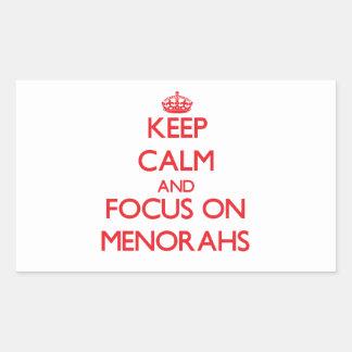 Keep Calm and focus on Menorahs Sticker