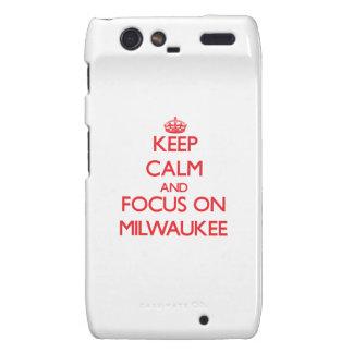 Keep Calm and focus on Milwaukee Motorola Droid RAZR Covers