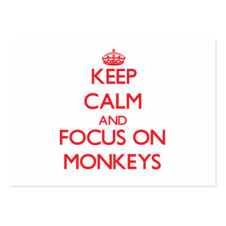 Keep Calm and focus on Monkeys Pack Of Chubby Business Cards