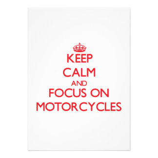 Keep Calm and focus on Motorcycles Invite