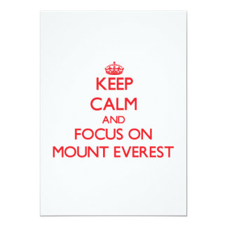 Keep Calm and focus on Mount Everest Card