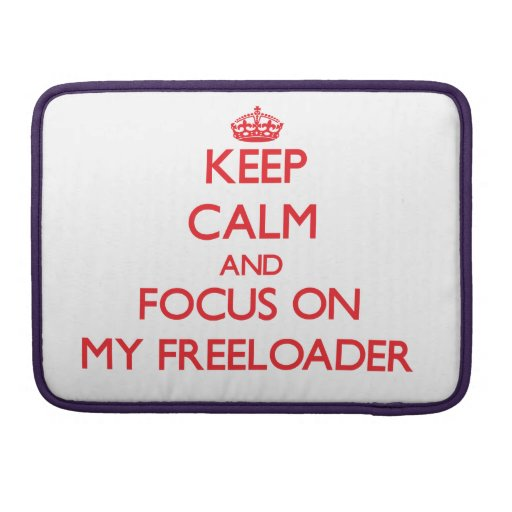 Keep Calm and focus on My Freeloader Sleeves For MacBook Pro