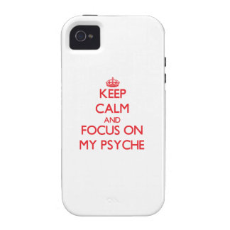 Keep Calm and focus on My Psyche Case-Mate iPhone 4 Cover