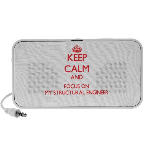 Keep Calm and focus on My Structural Engineer Speaker System