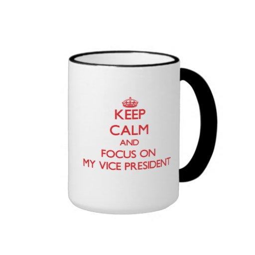 Keep Calm and focus on My Vice President Mug