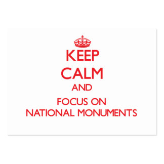 Keep Calm and focus on National Monuments Business Card Templates