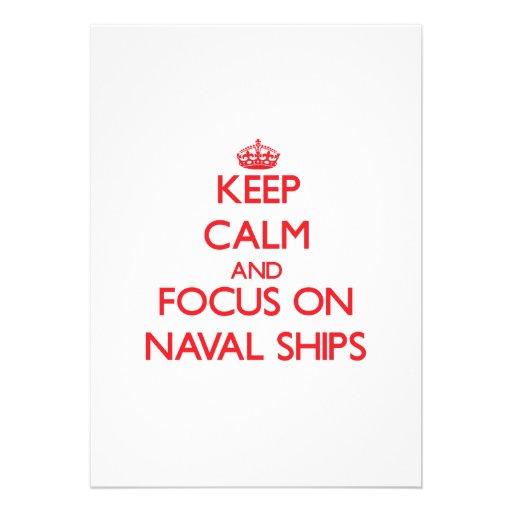 Keep Calm and focus on Naval Ships Card