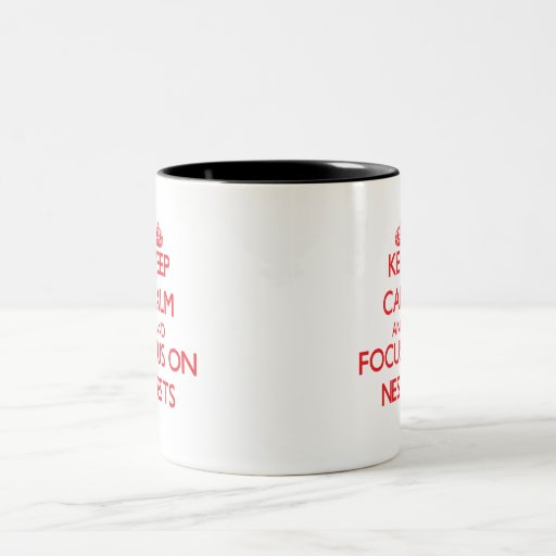 Keep Calm and focus on Nests Mugs