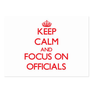 Keep Calm and focus on Officials Business Card Template