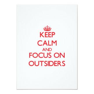 kEEP cALM AND FOCUS ON oUTSIDERS Custom Invitation