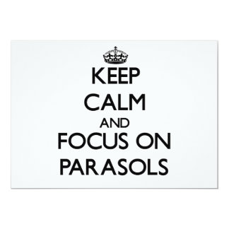 Keep Calm and focus on Parasols Invitations