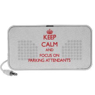 Keep Calm and focus on Parking Attendants Mini Speakers